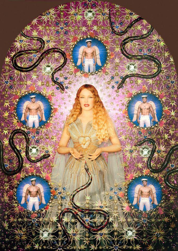 Jean Paul Gaultier, La Vierge aux serpents (Kylie Minogue) (2008) foto Pierre et Gilles