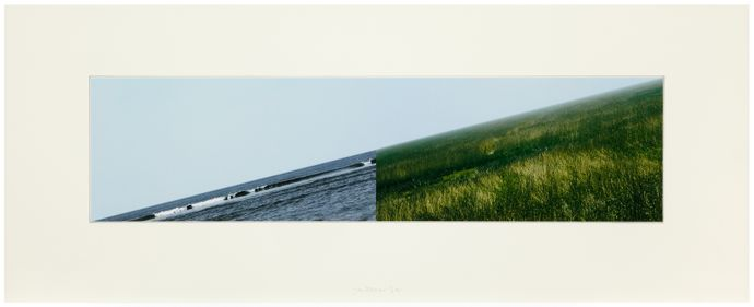 Land-Sea Horizon (a), 2011 Photo-collage Paper and image 41.6 x 104.0 cm Edition of 12 © Jan Dibbets. Courtesy the artist and Alan Cristea Gallery, London