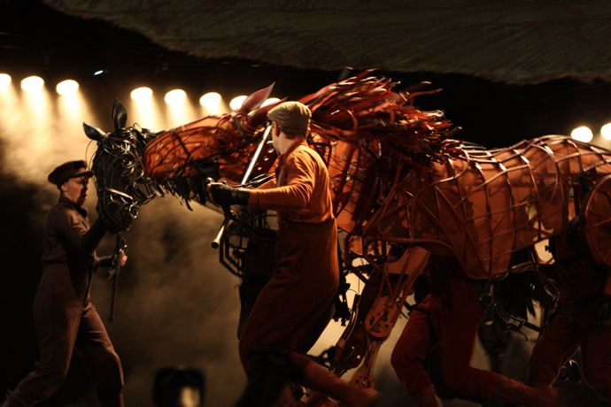 Two of the amazing horses from War Horse