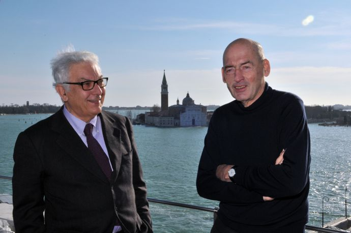 Paolo Baratta and Rem Koolhaas. Foto: Giorgio Zucchiatti, courtesy: la Biennale di Venezia