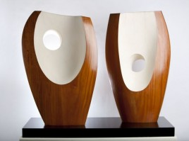 Barbara Hepworth Two Forms with White (Greek) 1963. The Hepworth Wakefield ©Bowness, Hepworth Estate. Photography by Jonty Wilde