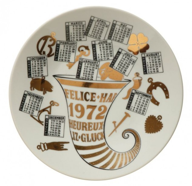 calendar plate 1972