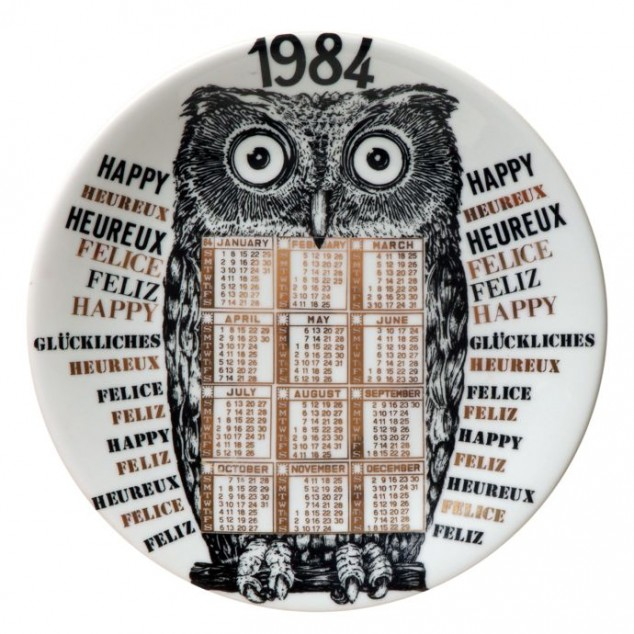 calendar plate 1984