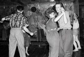 Lorraine Davies Smith jiving with Paul Simper Wag Club 1983 ©Graham Smith