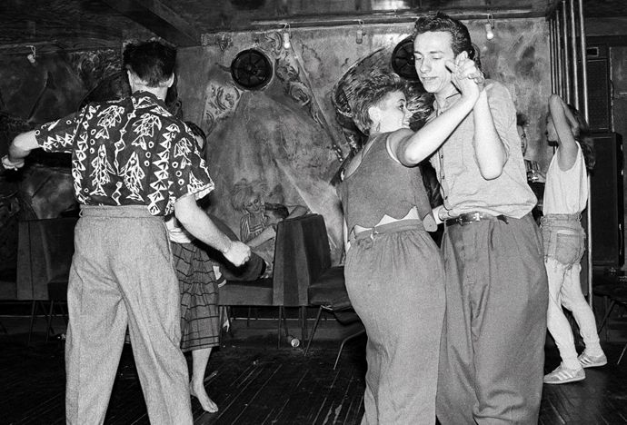 Lorraine Davies Smith jiving with Paul Simper Wag Club 1983 ©Graham Smith