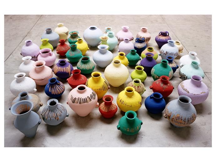 A1ai Weiwei Colored Vases 2006 Volt Caf By Volt Magazine