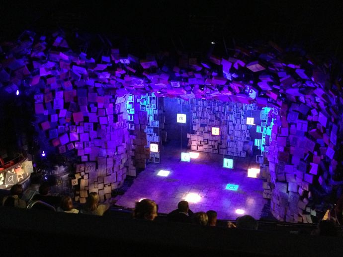 The stunning set design from Matilda the Musical