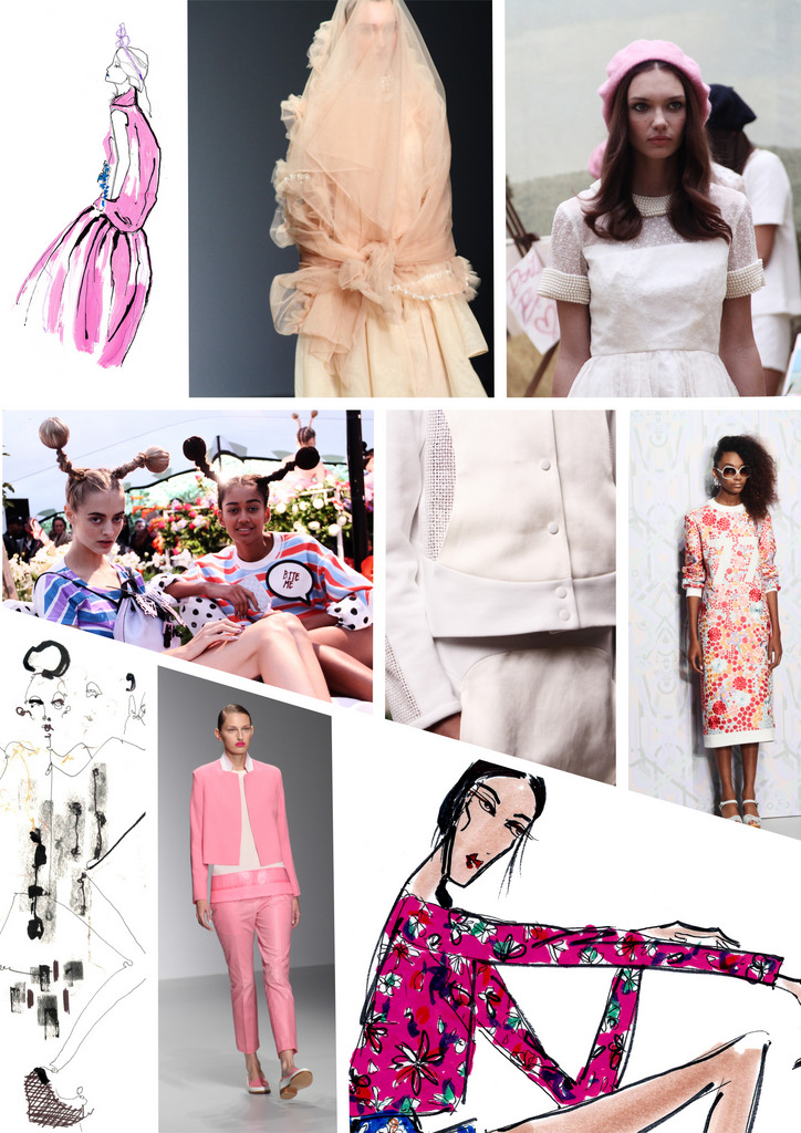 catwalk and illustrations pink-001