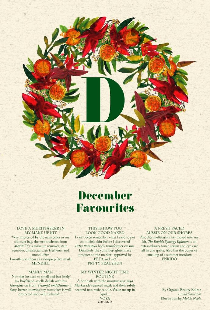 organic beauty december Edit