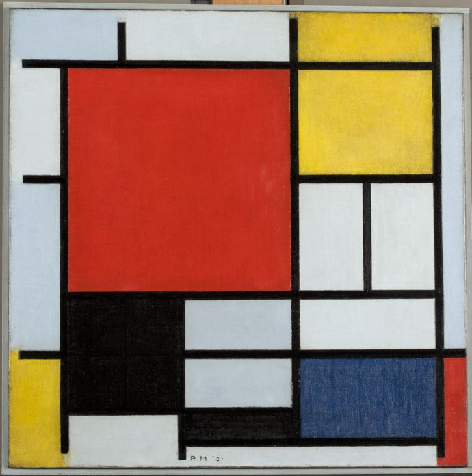 Piet Mondrian (1872-1944) Composition with Large Red Plane, Yellow, Black, Grey and Blue, 1921
