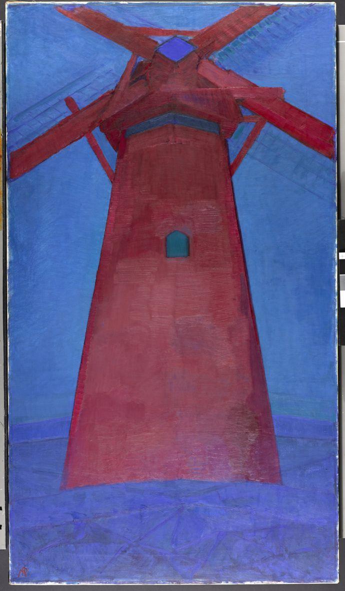 Piet Mondrian (1872-1944) Molen (Mill); The Red Mill, 1911