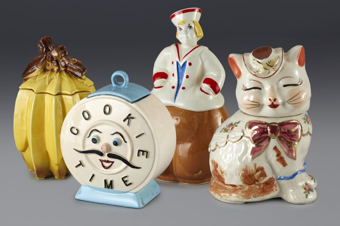 Cookie jars formerly in the collection of Andy Warhol. Image courtesy the Movado Group